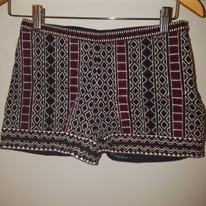 Forever 21 Patterned High Waisted Shorts
